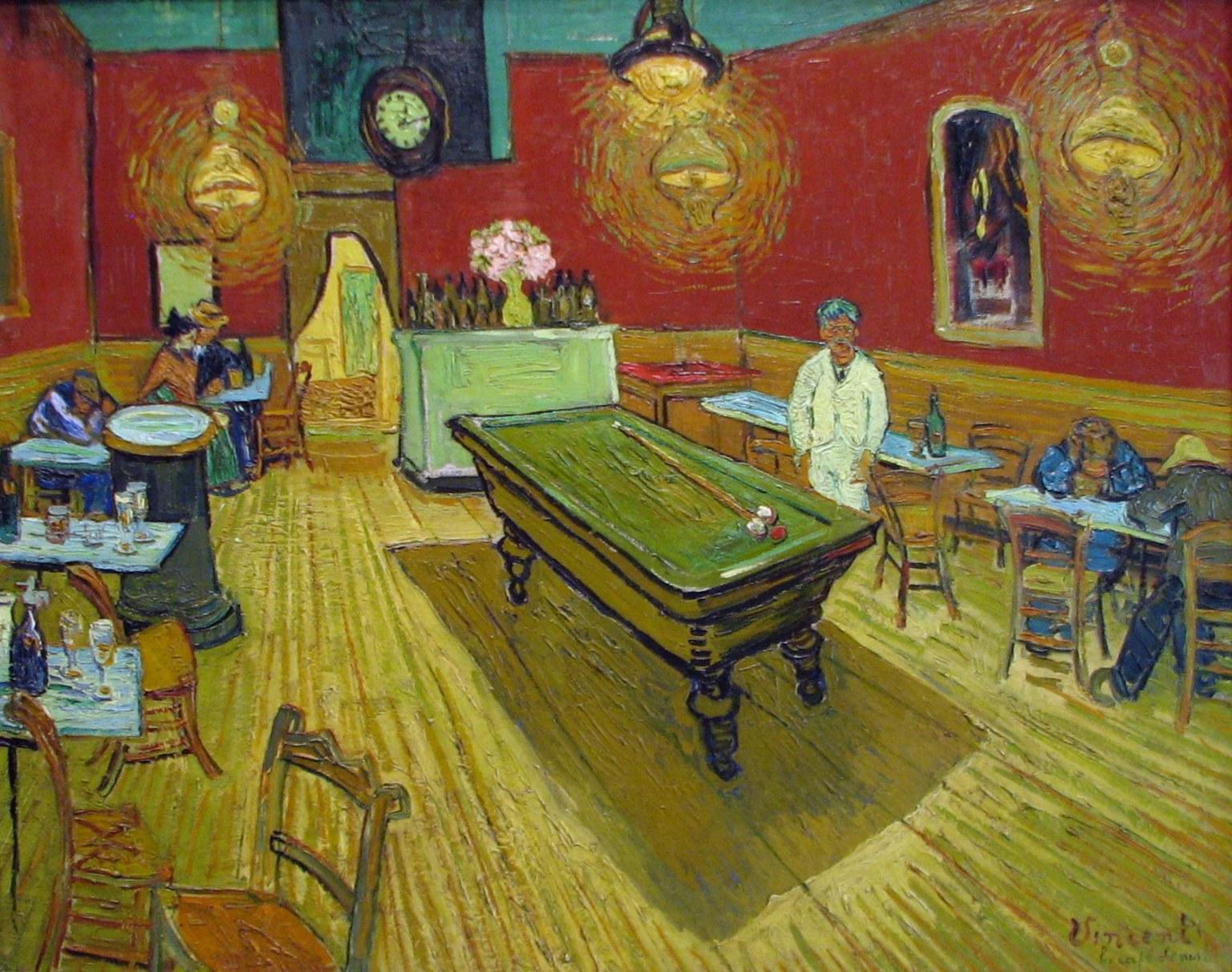 Cafe Van Gogh Menu