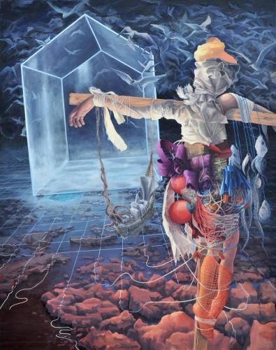 Fielding Terns Oil on canvas 56inx44in 2011