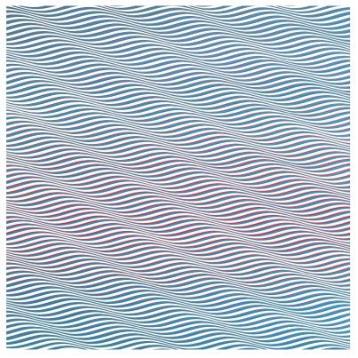 Bridget Riley, Cataract 3, 1967, PVA on canvas, 88.5 x 87 5