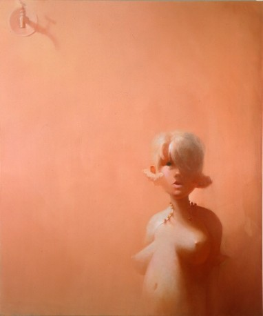 YuskavageFaucet 1995 oil on linen 72 x 60 inches