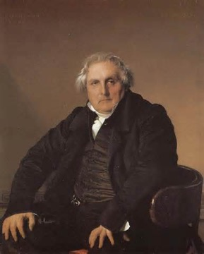 Portrait of Louis-François Bertin, 1832, oil on canvas, 116 x 96 cm