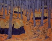 Paul Serusier_1892_oil on canvas_Breton Women The Meeting in the Sacred Grove
