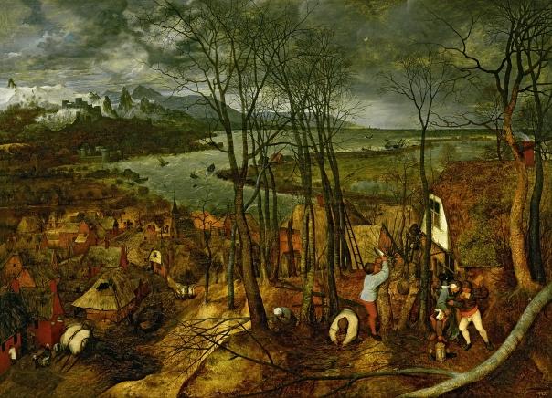 XAM509 The Gloomy Day - Spring, 1559 by Bruegel, Pieter the Elder (c.1525-69); 18x163 cm; Kunsthistorisches Museum, Vienna, Austria; Flemish, out of copyright
