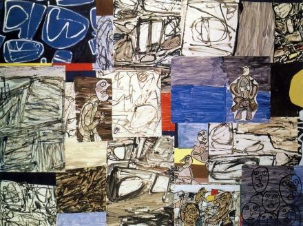 1976. Acrílic sobre paper amb 45 peces encolades. 249 x 319 cm. Fundació Dubuffet, París.